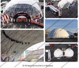 Steel Circle Tube Outdoor Dome Tent Half Sphere Diamater 30m For Celebration